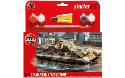 Airfix A55303 1/76 King Tiger Ausf B Starter kit | Pinnacle Hobby