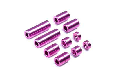Tamiya 95520 Aluminum Spacer Set Purple | Pinnacle Hobby