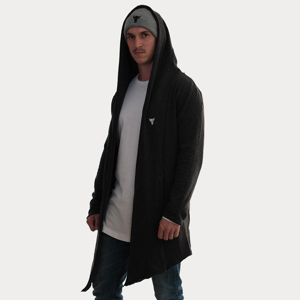 Long Hooded Cardigan Hooded - thisisthebull®