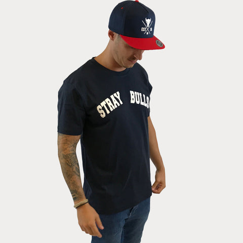 Navy STRAY BULLS T-Shirt