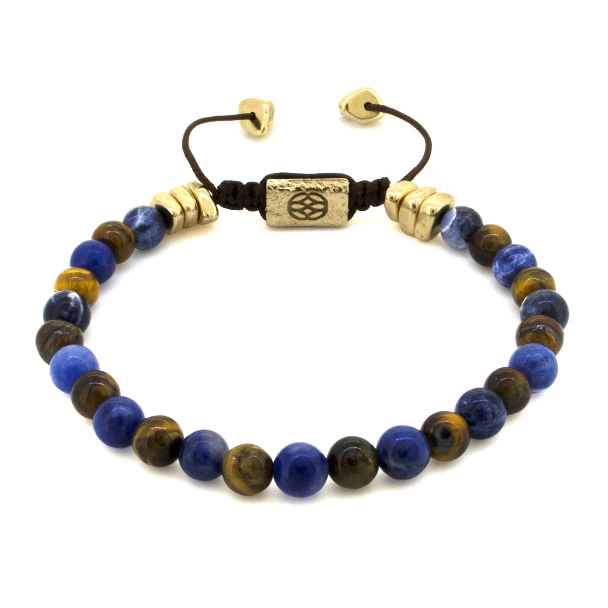 Allora Sodalite Tiger Eye 6 MM Gold Dust