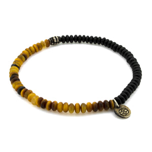 Budoni Tiger Eye Onyx 4 MM Vintage