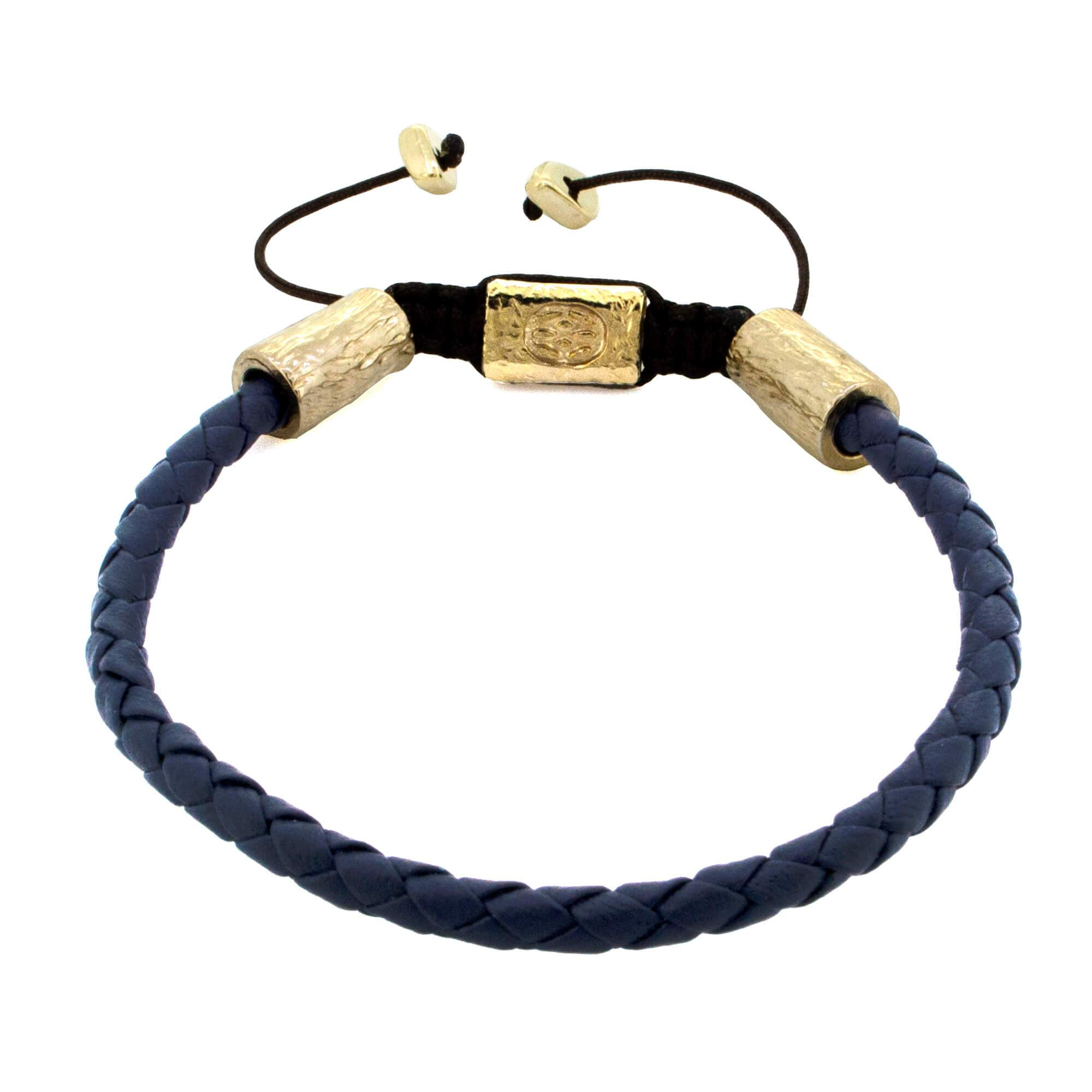 Varenna Nappa Navy 4 MM Gold Dust