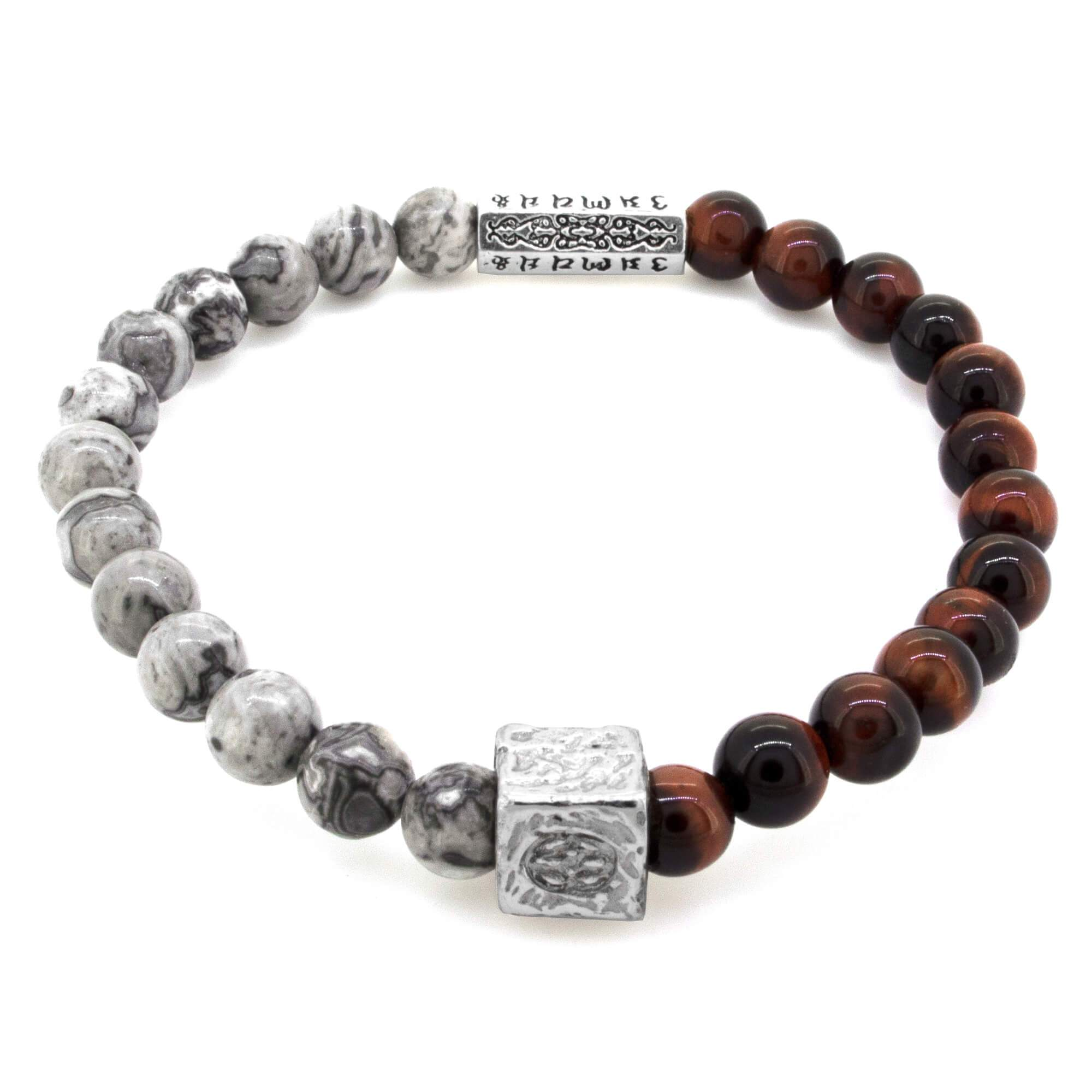 Budoni Jasper Tiger Eye Sterling Silver