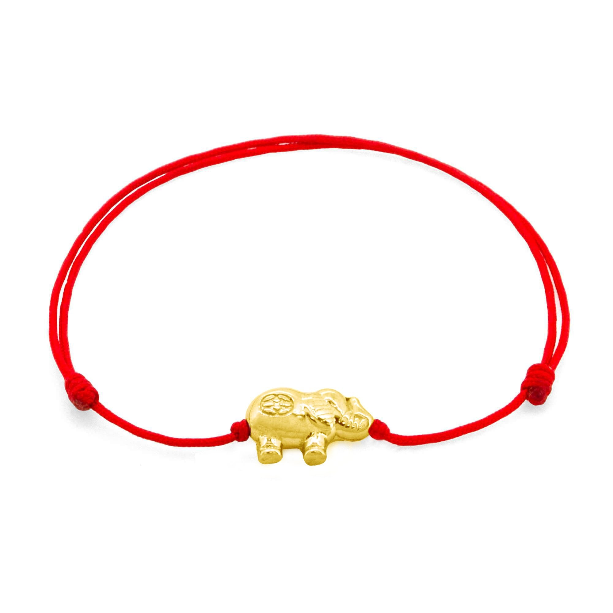 Amalfi Elephant Red 14-Karat Gold