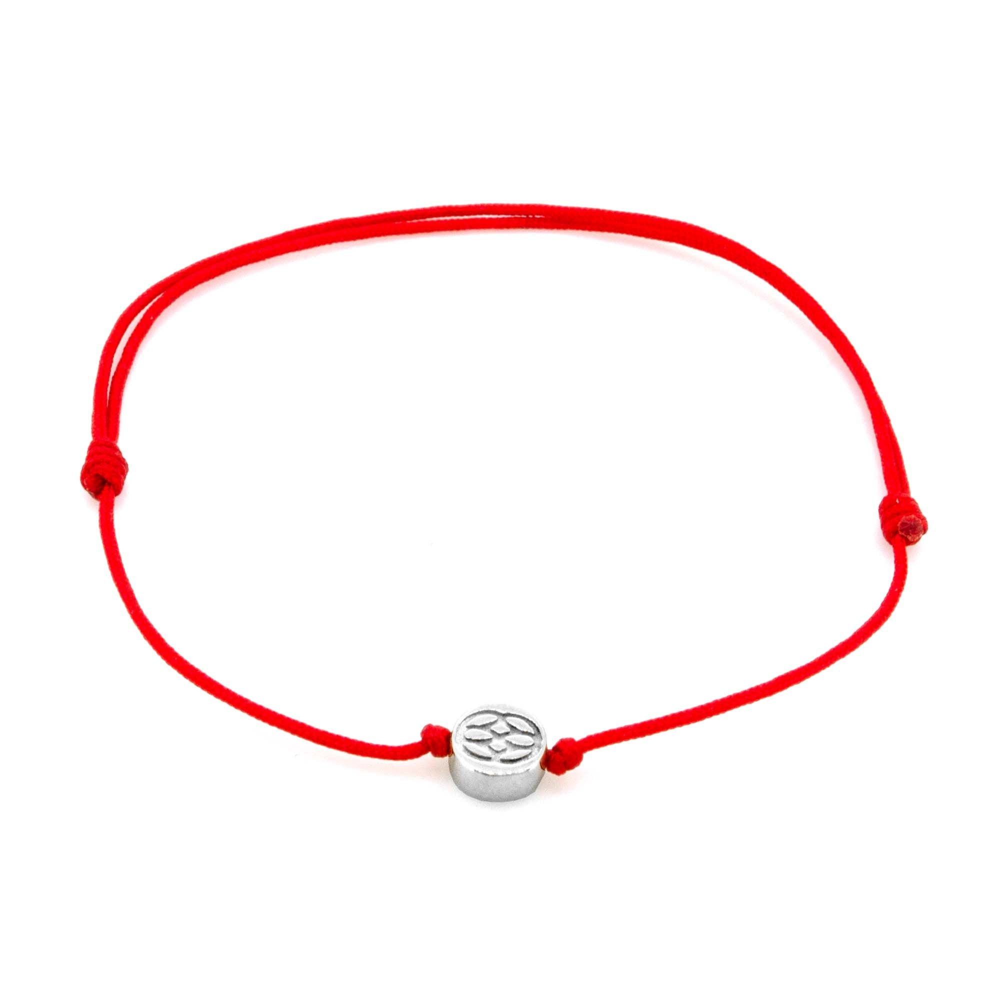 Sterling Silver Adjustable Amalfi Bracelets - Red Luck Couple
