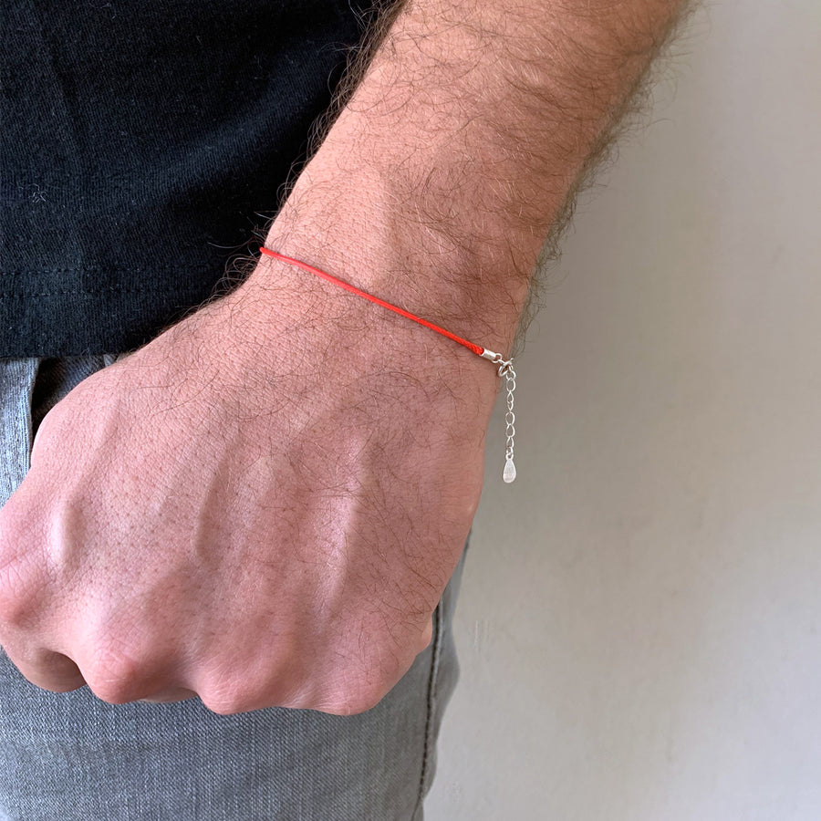 Bracelet - Isola 1 Mm Red String Sterling Silver