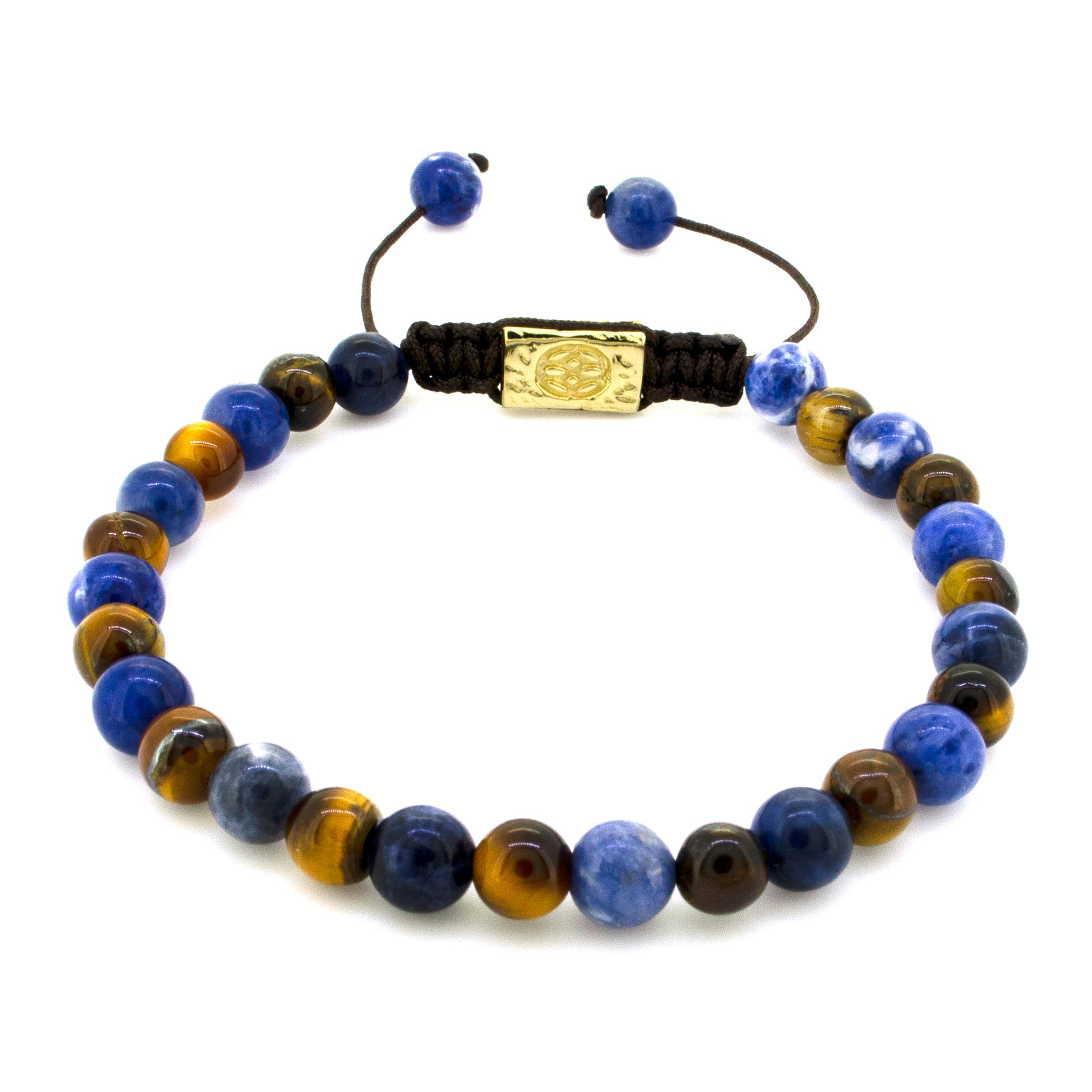 Allora Sodalite Tiger Eye 14-Karat Gold