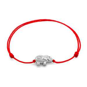 Amalfi  Elephant Red Sterling Silver