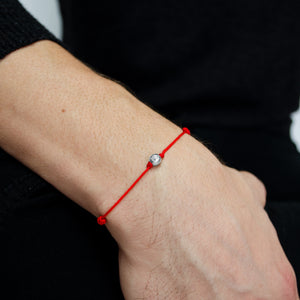 Amalfi Giro Red Adjustable Sterling Silver