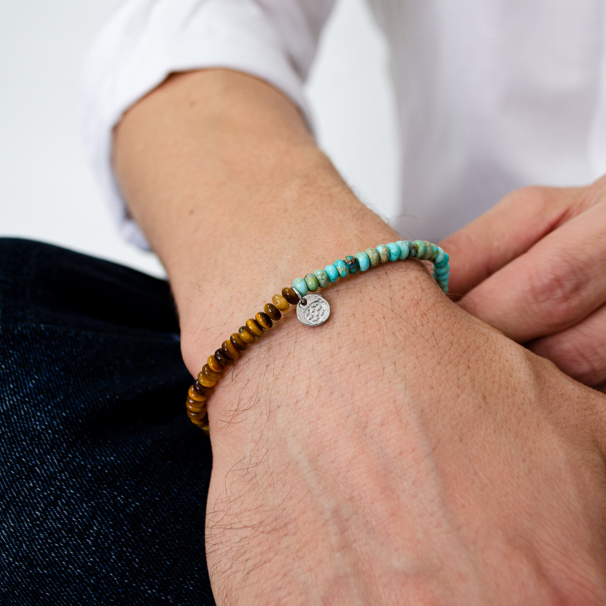Budoni Tiger Eye Imperial Turquoise