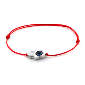 Amalfi Hamsa Evil Eye Red Sterling Silver