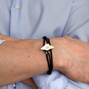 Bari Stingray Navy 14K Gold