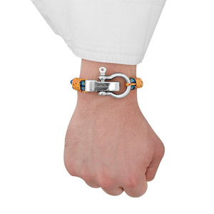 Bracelet - Anzio Double Knot Blue II Stainless Steel