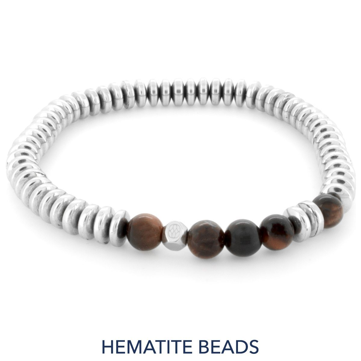 Bracelet - Bambola 6 Mm Hematite Red Tiger Eye