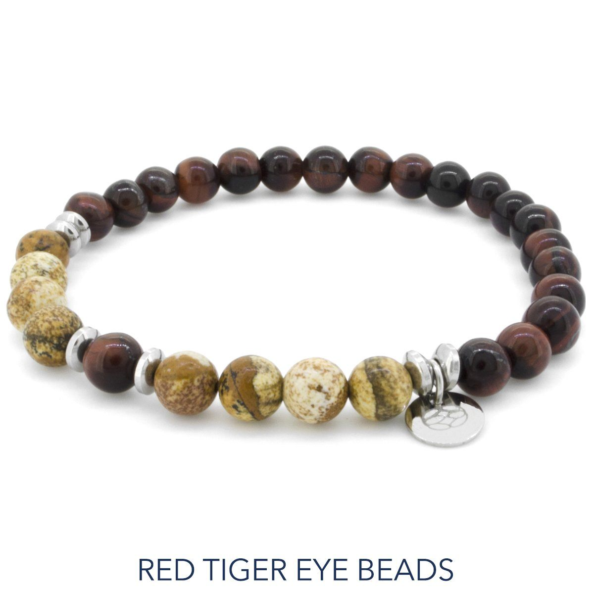 Bracelet - Budoni 6 Mm Red Tiger Eye Sand