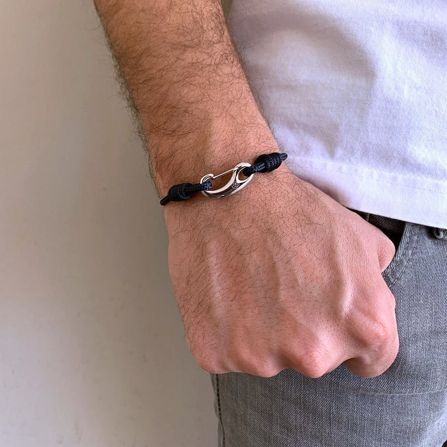 Bracelet - Gancio 3 Mm Rope Navy Blue