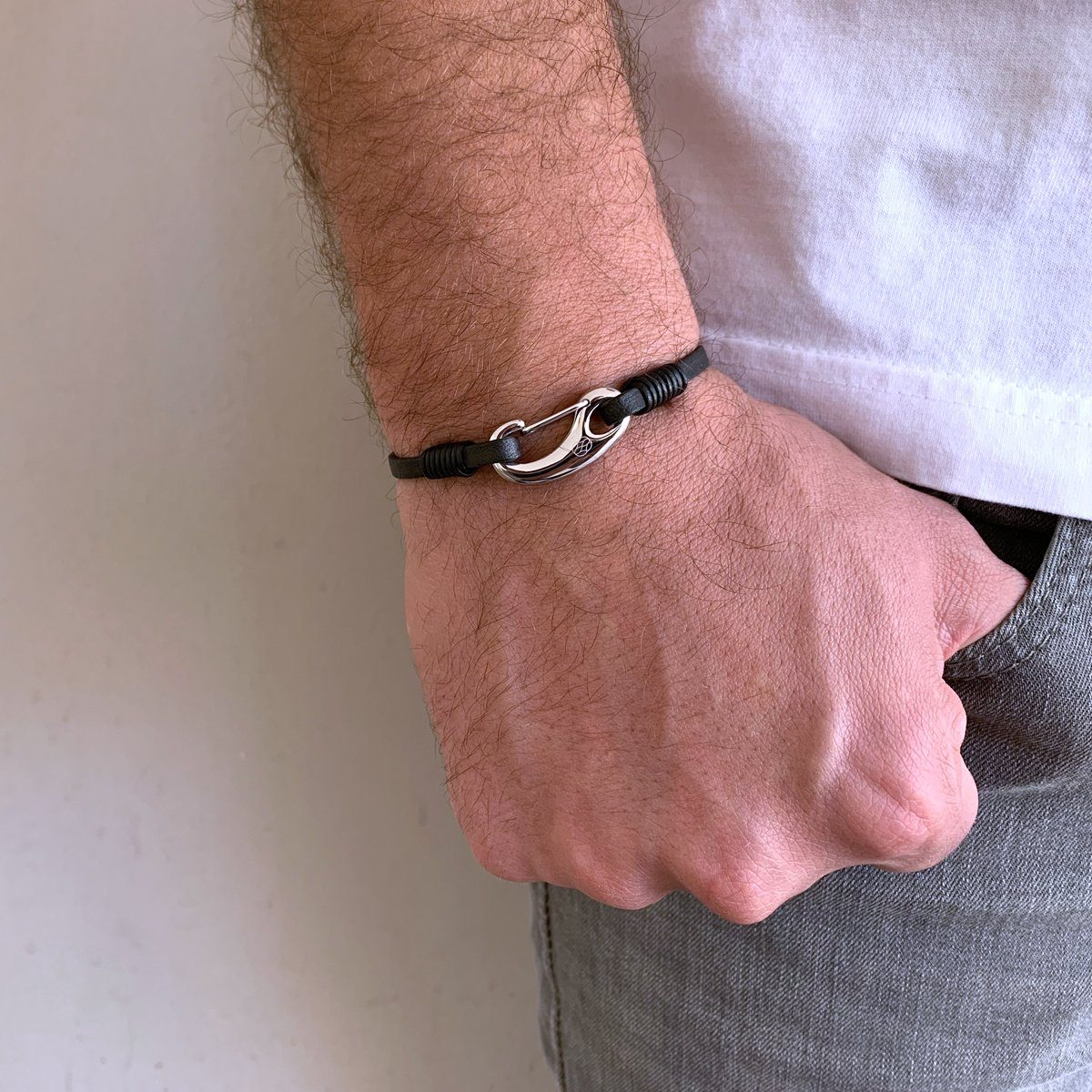 Bracelet - Gancio Black Leather