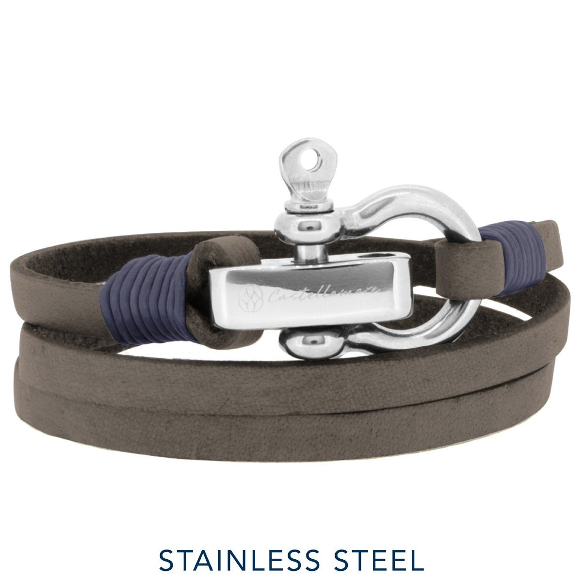 Bracelet - Lucca Brown Blue SM Stainless Steel