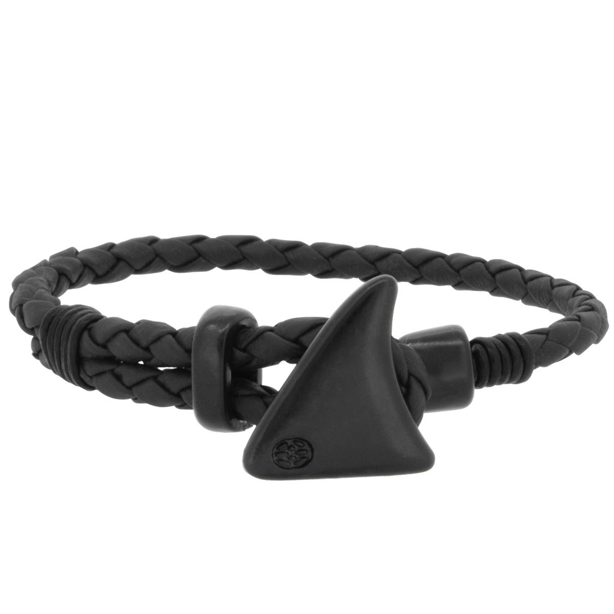 Bracelet - Nappina Nappa Black Leather Shark Fin BK