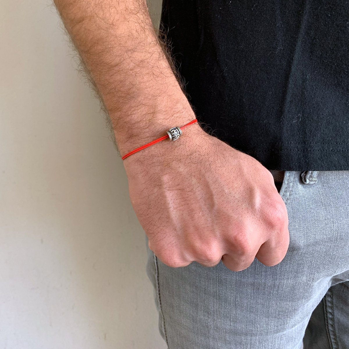 Bracelet - Tibetan Mantra 1 Mm Red String