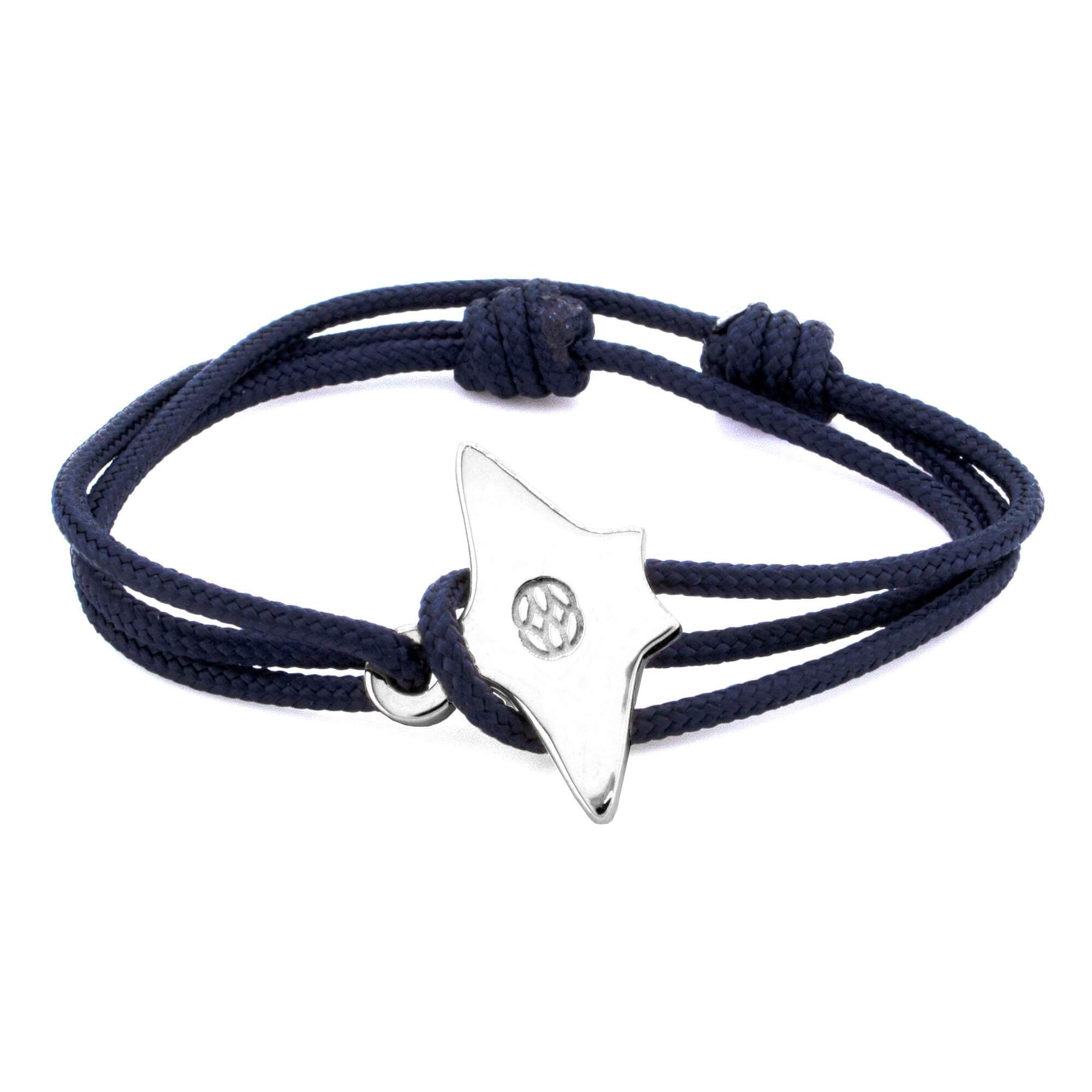 BARI STINGRAY NAVY STERLING SILVER