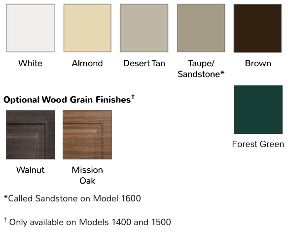 overhead garage door 170 180 models paint swatches