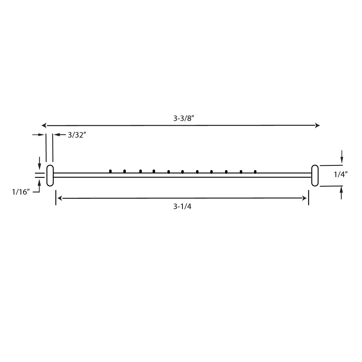 "T Shaped 1/4"" Weather Seal Garage Door Diagram"