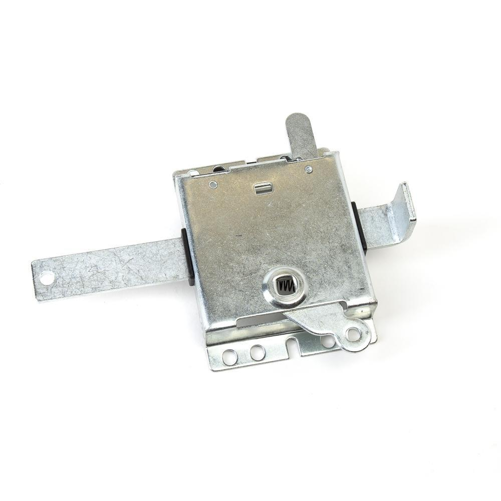 Left hand garage door slide lock