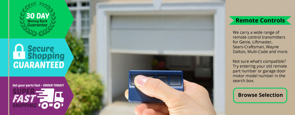Remote control transmitters for garage door openers