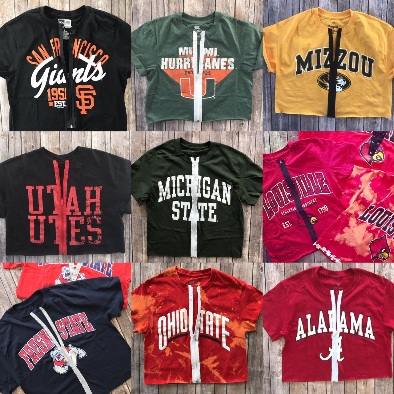 Cropped Zipper Tee Tailgate Transformation Service