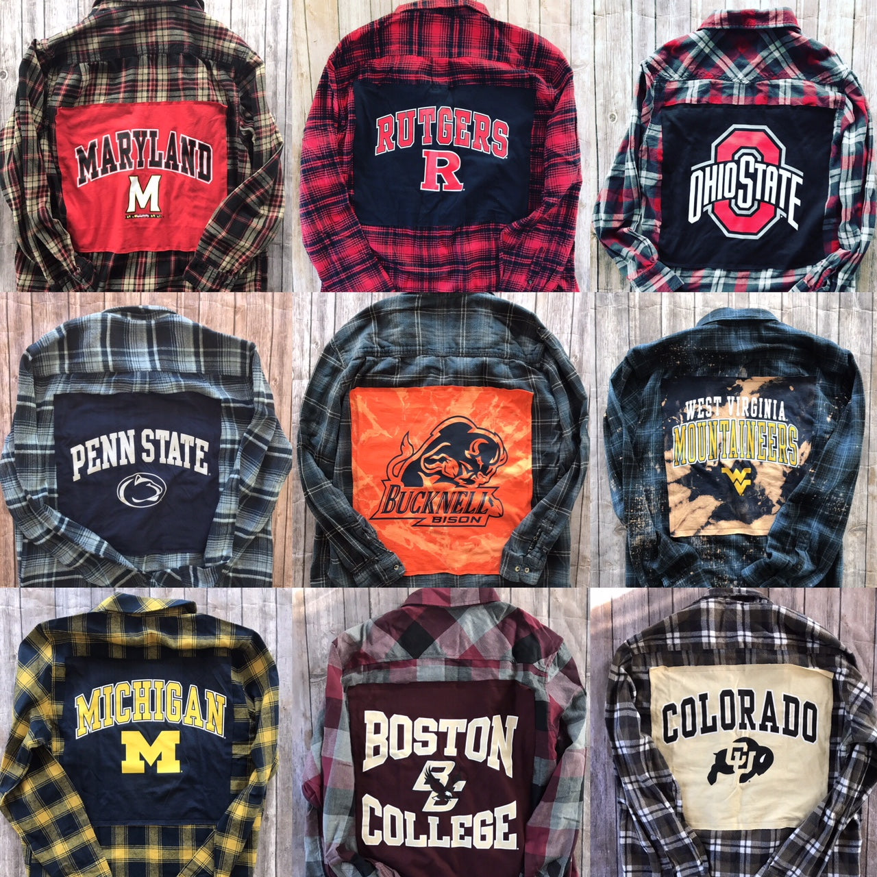 Custom College or Sports Team Flannel Tailgate Transformation Service