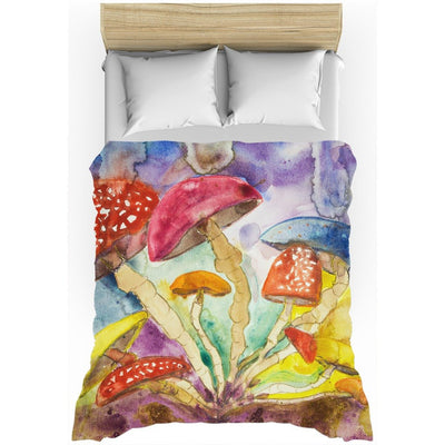 Psychedelic Mushroom Insomnia All-Over Print Duvet Cover