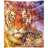 Majestic Tiger Head Wall Tapestry