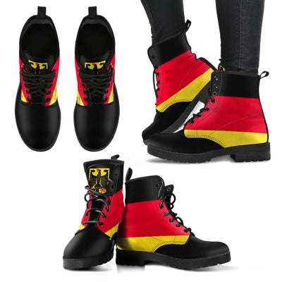 Germany Flag Inspired Boots | Leather