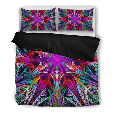 Symmetric Fractal Flower Bedding Set