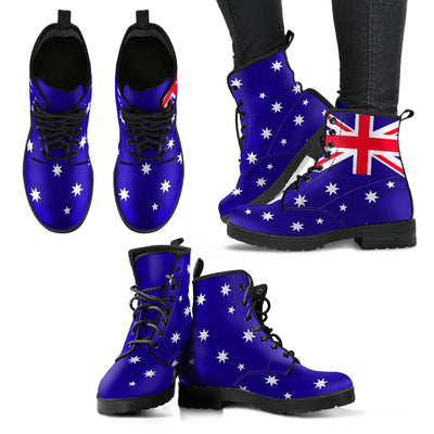 Australia Flag Inspired Lace-Up Boots | Leather