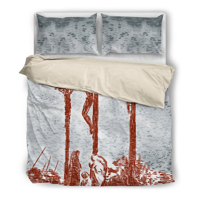 Sketchy Crucifixion Bedding Set