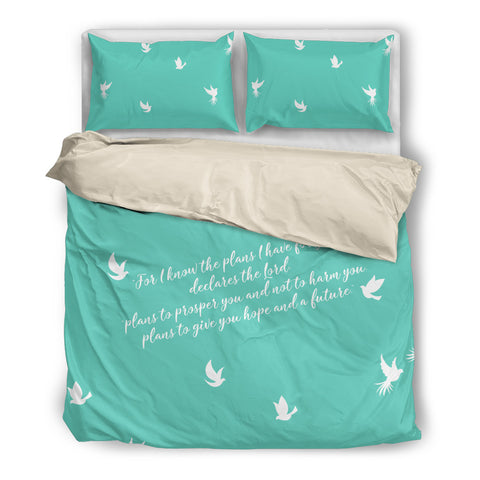 I Know The Plans Bedding Set