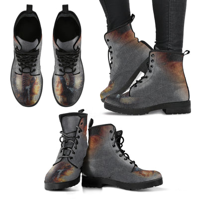 Indian Man And Woman Cherokee Lace-Up Boots | Leather