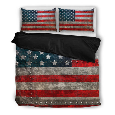 Grunge Patriotic Flag Bedding Set