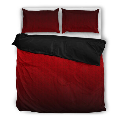 Red Wine Ombre Bedding Set