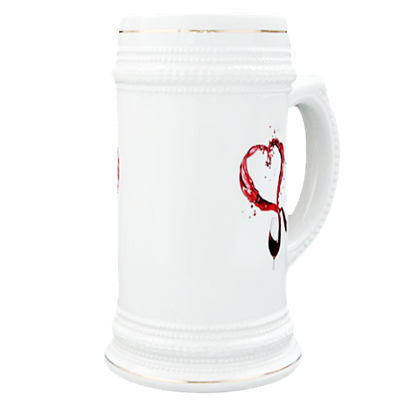 Heart Splash from Couple's Wines Beer Stein