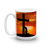 Kneeling at the Cross 15 oz. Ceramic Mug