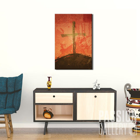 The Illustration of Crucifixion 1 Piece Canvas Wall Art Decor