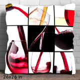 Luxurious Wine Collection Throw Pillow