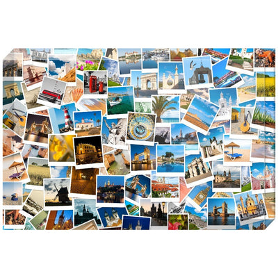 Europe Photo Collage Acrylic Block