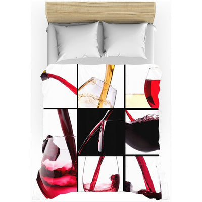 Luxurious Wine Collection All-Over Print Duvet Cover