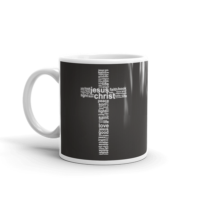 The Cross in Word Cloud 11 oz. Ceramic Mug