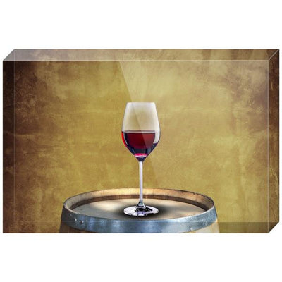 A Glass of Red Wine Acrylic Block